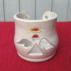 Angel Candle Holder Handmade Christmas Pottery by SharsArtPottery, $14.50