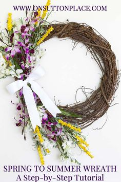 Spring to Summer Wreath | On Sutton Place