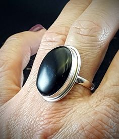 Black Onyx Ring - Size 6.75