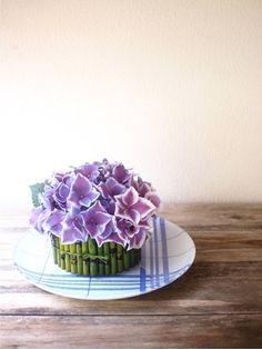 flowers on plate