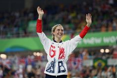 Laura Trott Photos Photos - Gold medalist Laura Trott of Great Britain…