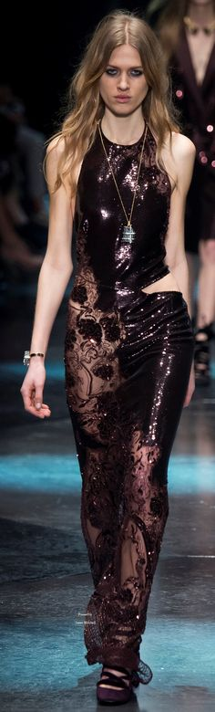 80f97bd638d1 Roberto Cavalli Collections Fall Winter 2015-16 collection Moda Da  Passerella