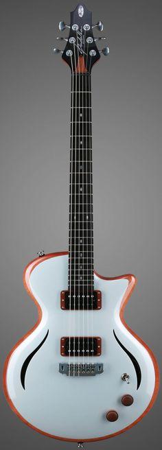 "Padalka Guitars ""Sun Sky Blue"" (?!) --- https://www.pinterest.com/lardyfatboy/ #Guitar #vintageguitars"