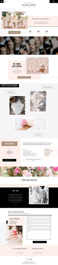 Mason Showit 5 Website Template Design by Seaside Creative. Bold, Modern, Crisp, Editorial, Typographic