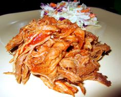 Slow Cooker Paleo Chipotle Honey Pulled Pork - made w/honey, not sauce. Try with chipotle chili pepper next time!!! (only had regular chili pepper). Used 2.5 lb. pork shoulder with 1/2 sweet onion and 2 red apples. Forgot all the liquids in the base but still turned out tender & tasty. Must try this again!