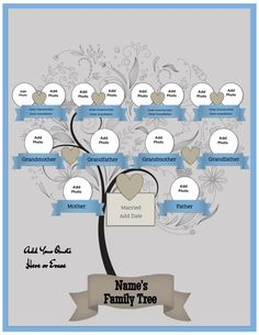 free family tree family tree templates pinterest free family