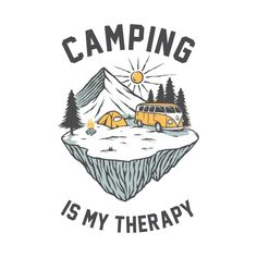 Camping is my Therapy Especially by the Campfire T-Shirt - Camping - T-Shirt | TeePublic.  How can you not relax with this wonderful Camping is my Therapy artwork. An ideal gift for the camping enthusiast in your life. Or is glamping your therapy. Build a fire, enjoy the outdoors and breathe in that fresh air. Glamping, Breathe, Therapy, Relax, Outdoors, Fire, Artwork, T Shirt, Supreme T Shirt