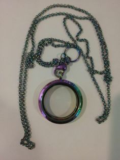 RAINBOW FLOATING LOCKET LIVING CHARMS CHAIN WINDOW PLATE DANGLES SHIPS FROM USA