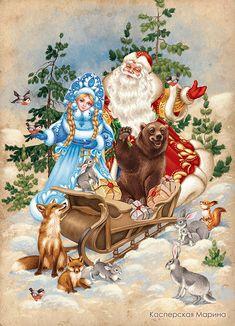 Просмотреть иллюстрацию Праздник в лесу из сообщества русскоязычных художников автора Касперская Марина в стилях: Декоративный, Детский, Книжная графика, нарисованная техниками: Растровая (цифровая) графика.