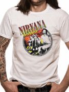 Officially licensed Nirvana t-shirt design printed on a 100% cotton short sleeved T-shirt.