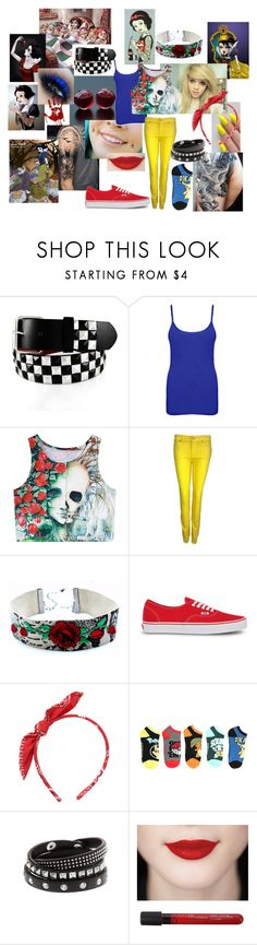 """""""snow white"""" by s19970103m ❤ liked on Polyvore featuring Disney, WearAll, 7 For All Mankind and Vans"""