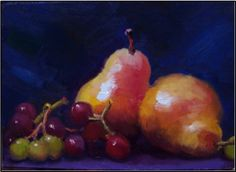 Juicy Fruits , 5x7, oil on linen on panel-$89   This painting, painting by artist Maryanne Jacobsen