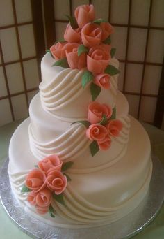 Indian Weddings Inspirations. Orange Wedding Cake. Repinned by #indianweddingsmag indianweddingsmag.com #elegant #classic