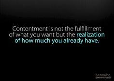 Contentment...
