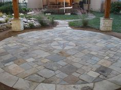 Patios - traditional - patio - houston - by Bushmaster Landscape Inc