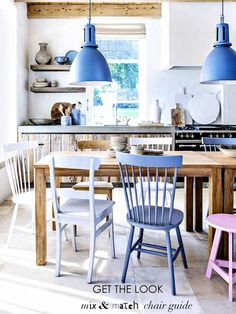 Mix & Match Dining Chairs | #Dining - Pinned onto ★ #Webinfusion>Home ★