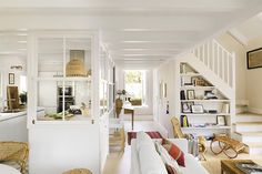 〚 Open space and terrace: architect's home in Spain 〛 ◾ Photos ◾Ideas◾ Design Living Room Decor, Living Spaces, Living Area, White Rooms, Interior Design Inspiration, Great Rooms, My Dream Home, Home Projects, Family Room