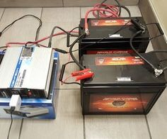 DIY Size & Build a Battery Power Backup Generator W/ Deep Cycle Batteries: 5 Steps (with Pictures) Battery Generator, Solar Generator, Emergency Generator, Solar Energy Panels, Best Solar Panels, Power Backup, Emergency Power, Emergency Preparedness, Solar Projects