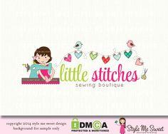 Little Stitches Premade Logo