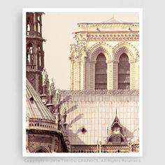 Paris photography - Notre Dame East facade, details - Paris photo,Art,home decor,Paris decor,wall art,grey,art print,poster,home and living