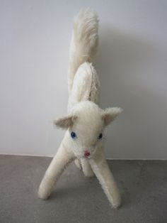 Ashley Williams - Tina Cat Bag on Garmentory Cat Purse, Cat Bag, Handmade Stuffed Animals, Ashley Williams, Fabric Material, Bag Sale, Crystal Beads, Baby Blue, Have Fun