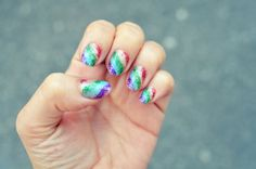 DIY diagonal glitter rainbow nails... with tutorial video