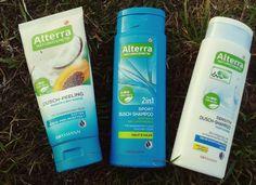 Peeling, szampon z płynem męski i neutralny.
