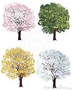 Four Seasons, Dandelion, Illustration, Flowers, Plants, Free, Painting, Dandelions, Illustrations