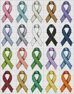 cintas en punto de cruz cancer - Buscar con Google