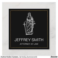 Justice Scales | Lawyer | Law Square Business Card