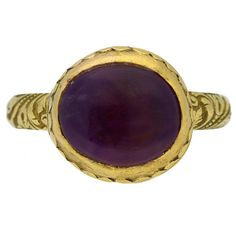 Rare Tudor amethyst ring, circa 16th-17th century. | From a unique collection of vintage engagement rings at https://www.1stdibs.com/jewelry/rings/engagement-rings/