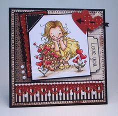 Ink--Ranger Jet Black Archival Ink, Sakura white gel pen, Copics (skin E000, E00, E11, E13, R20, R22) (hair ) (clothes Y11, Y21, YR21, YR23, N5) (flowers R35, R37, R39, R43, YG93, YG95, YG97) (basket E31, E33, E35, E39, E51) (grounding E40, E42, E43)