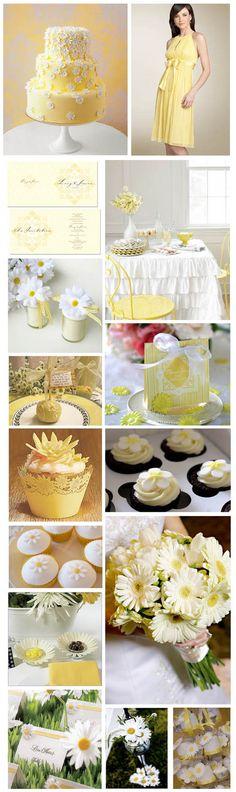 Decoração amarela e branca
