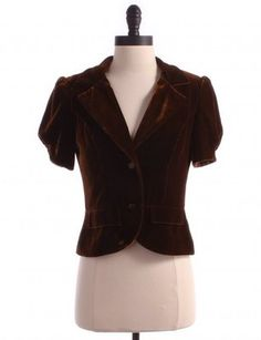 TWELFTH ST BY CYNTHIA VINCENT Solid Brown Velvet Blazer Sz S Top Jacket | eBay