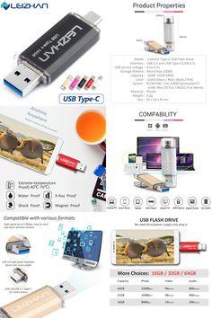 [Visit to Buy] LEIZHAN USB Flash Drive 3.0 16G 32G OTG External Storage USB High Speed Type C 3.0 Memory Stick Mini USB Pen Drive Metal U Disk  #Advertisement