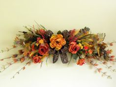 Fall Flowers Swag Mix Flower Wall Door Decor by tlgsilkfloral, $69.95