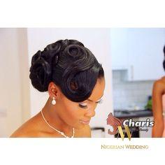 Nigerian wedding black bridal hair ideas and inspiration 25