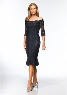 Long Sleeves Tulle Mother of the Bride Dress - great dress!!  - short sleeves