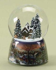 Christmas Cottage Snow Globe
