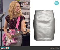 Liv's silver skirt on Liv and Maddie.  Outfit Details: http://wornontv.net/49796/ #LivandMaddie