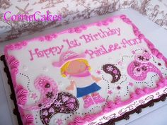 Paisley cowgirl cake- would be cute as a two tier cake--- for Penelope's 2nd birthday maybe?