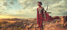 A still thriving pastoral tribe in Southeast Africa, the Maasai people inhabit southern Kenya and Northern Tanzania, typically speaking the languages of bo Zulu, Tanzania, Kenya, Tribu Masai, Maasai People, Famous Photography, Portrait Photography, Indigenous Tribes, Men In Kilts