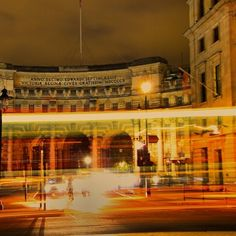 Admiralty Arch at night Charing Cross