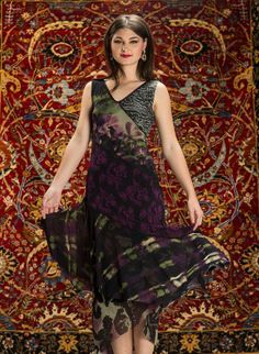 Patchwork maxi dress by Fuzzi, Saks Fifth Avenue; www.fuzzi.it