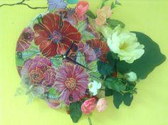 Ещё часики-все тот же платок. Китайские иск. цветы, роспись, контуры.