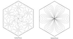 Free Motion Quilting ideas- IN Hexagons, from Hexagons Made Easy