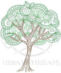 Delicate Tree design (UTC5124) from UrbanThreads.com:  Love this as a wedding logo design