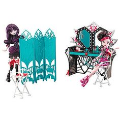 Monster High Frights Camera Action Dressing Room Play Set