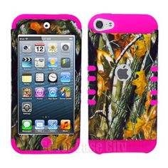 pink camo ipod touch cases   Pink Mossy Branch Camo Hybrid Hard Cover Case FOR Apple Ipod Touch 5 ...