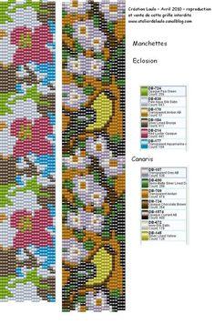 Pattern bijoux: Eclosion & Canaris Bracelet peyote
